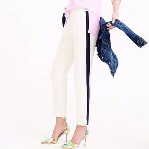 J. Crew Crepe Tuxedo Striped Trouser Pants